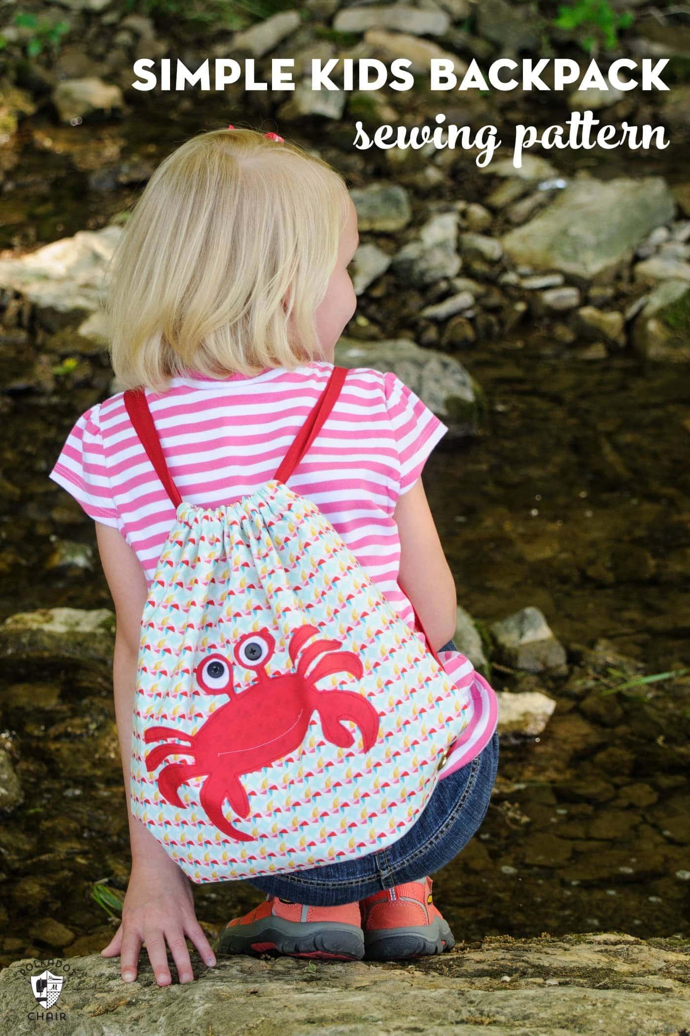 How To Make A Drawstring Bag Or Backpack Polka Dot Chair