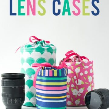 DIY Padded Camera Lens Case