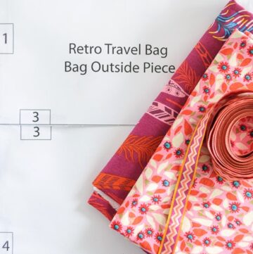 Retro Travel Bag Sewing Pattern updates