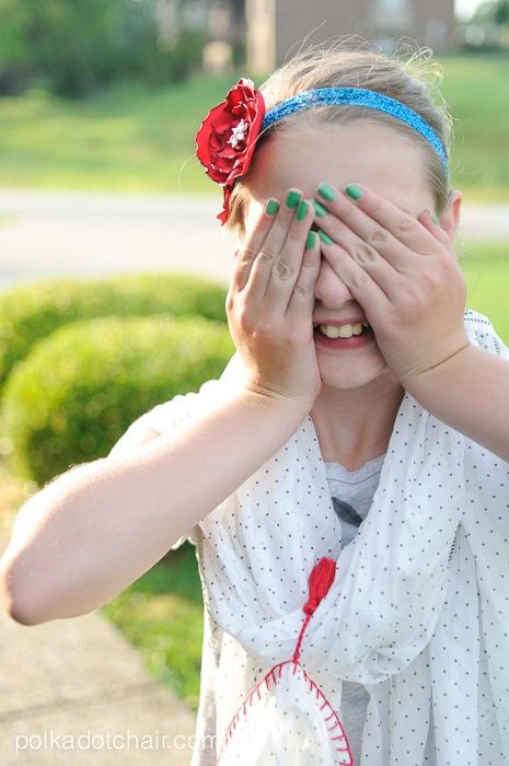 DIY Glitter Rose Headband on polkadotchair.com