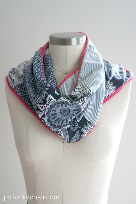Patchwork Scarf Sewing Tutorial on polkadotchair.com