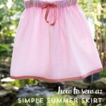 How to sew: Simple Summer Skirts