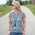 The Liberty Tee – a t-shirt sewing pattern refashion