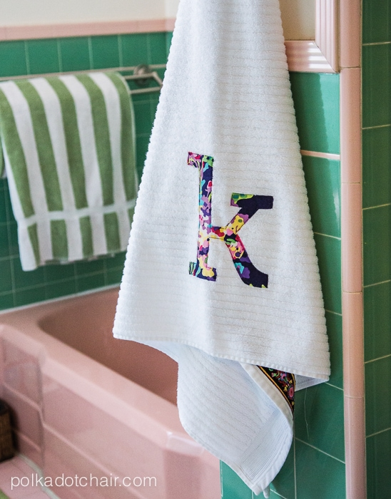 Monogrammed Towel Tutorial