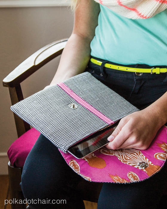 iPad Clutch - upcycled from a Men's suit coat