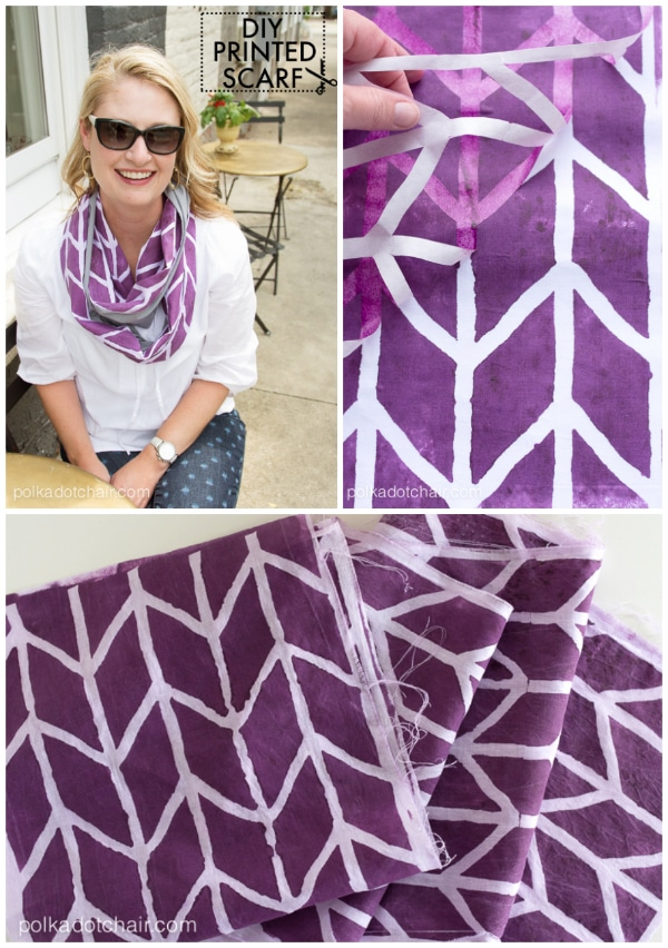 DIY Custom Printed Fabric Infinity Scarf Tutorial on polkadotchair.com