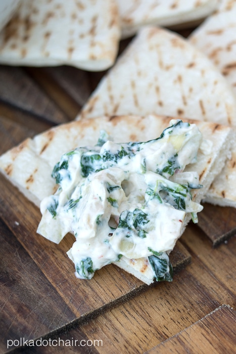 Creamy Spinach and Artichoke Dip Recipe on polkadotchair.com