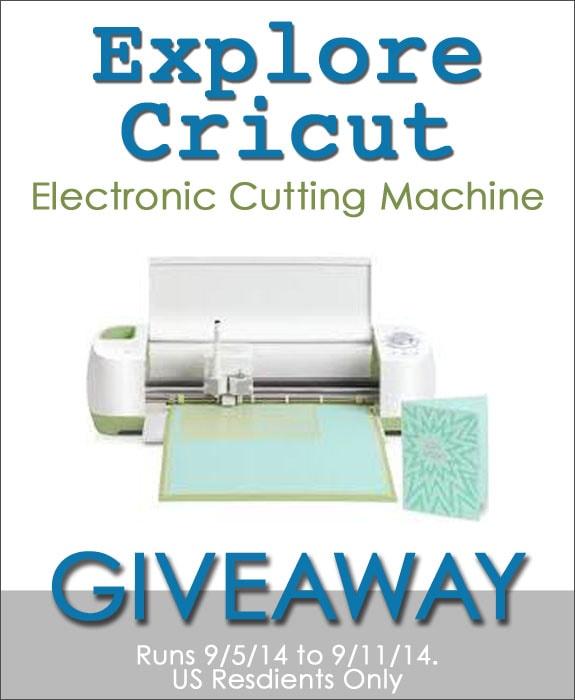 Cricut Explore Machine Giveaway