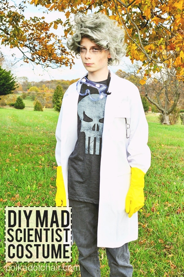 Easy Diy Mad Scientist Costume No Sew Polka Dot Chair