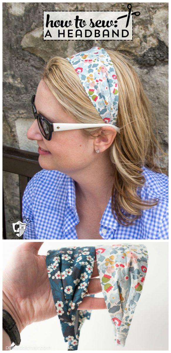 DIY fabric headband
