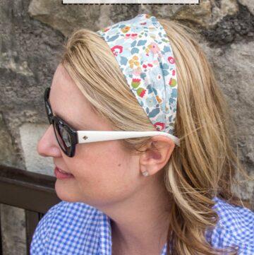 DIY Fabric Headband Sewing Pattern on polkadotchair.com