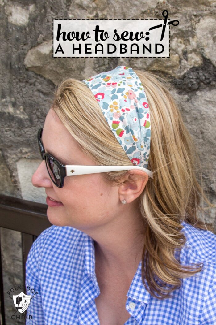 DIY Fabric Headband Sewing Pattern on polkadotchair.com