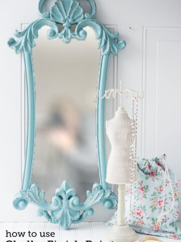 Easy Mirror refinish using Chalky Finish Paint on polkadotchair.com
