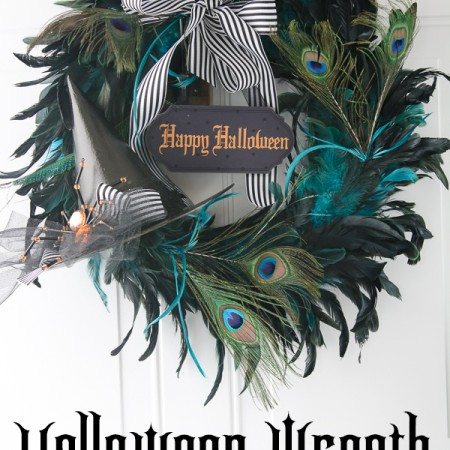 DIY Witches Hat Halloween Wreath