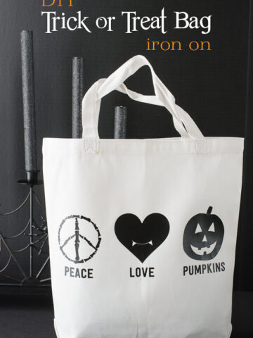 Easy DIY Trick or Treat Bag with Free Cut File Download