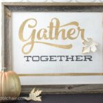 DIY Gold Leaf Stenciled Wood sign
