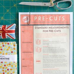 Free online guide to Pre-Cut Fabrics, and handy sewing reference guide