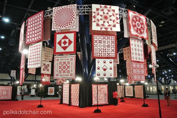 Quilt Display, Quilt Market 2014