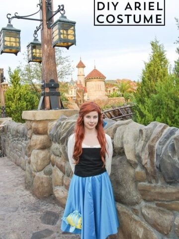 Learn how to DIY your own Ariel Mermaid Halloween Costume - also great for cosplay !