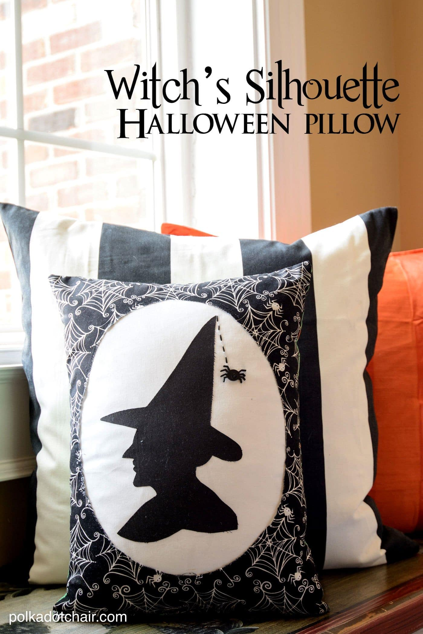 Witch 39 S Silhouette A Halloween Pillow Pattern From