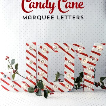 Candy Cane Christmas Marquee Letters