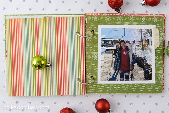 Simple Christmas Photo Album Tutorial on polkadotchair.com
