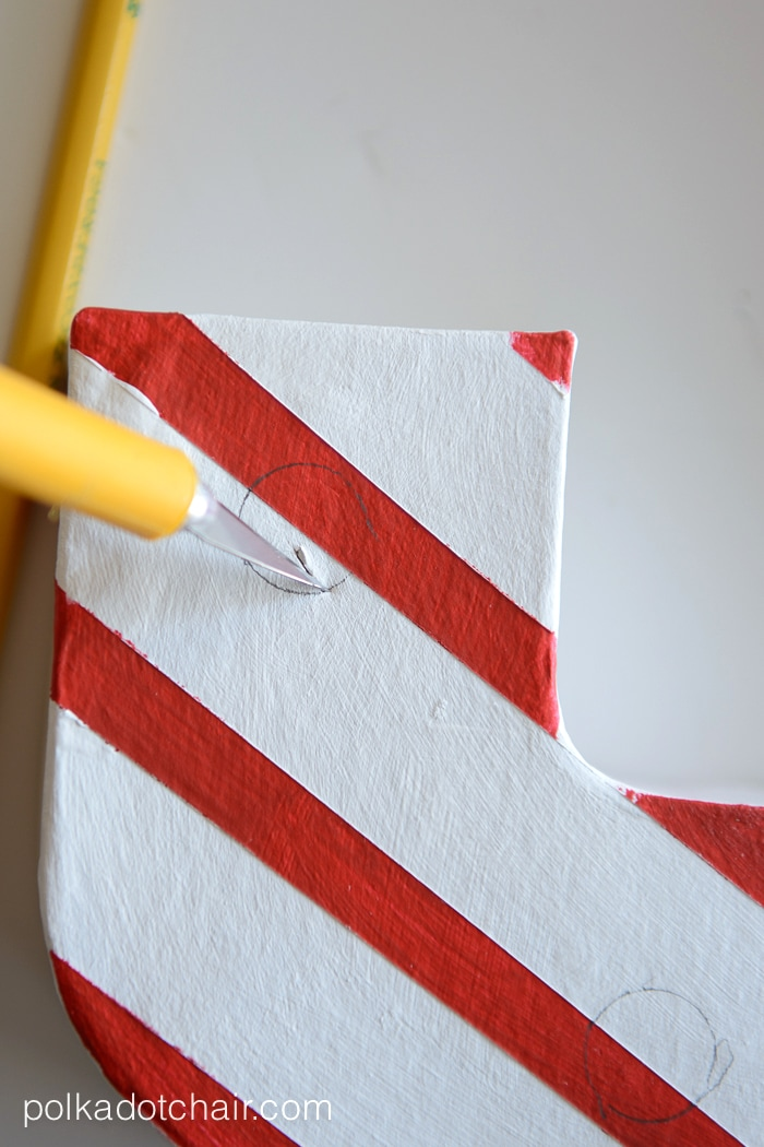 Candy Cane Stripe Christmas Marquee Letters by polkadotchair.com