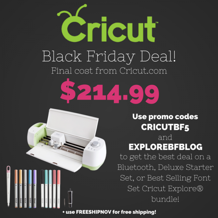 Cricut Black Friday Coupon Codes