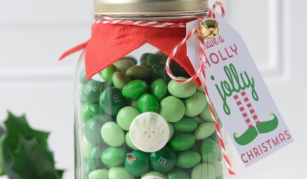 Elf Christmas Mason Jar Gifts