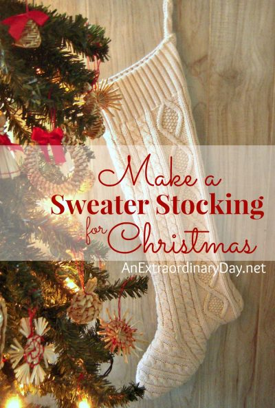 Make a Sweater Stocking