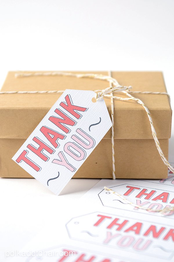 Thank You Gift Tag at UCreate