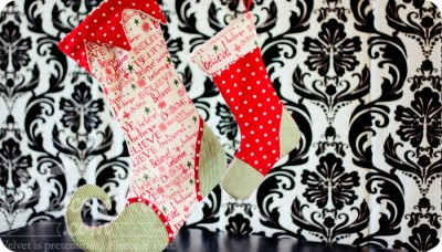 Christmas Stocking Tutorial from Fleece Fun