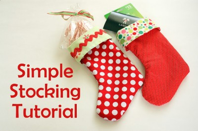 Simple Stocking Tutorial at Diary of a Quilter