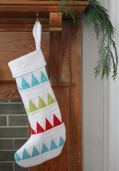 Triangle Christmas Stocking