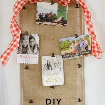 DIY Christmas Card Holder.... no sew!