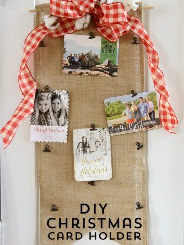 DIY Christmas Card Holder.... no sew!