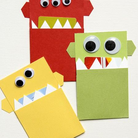 DIY Monster Gift Card Holder