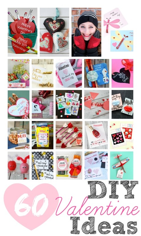 60 DIY Valentine Ideas! Lots of cute printables and craft ideas!
