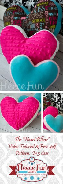 The Heart Pillow; video tutorial and free PDF pattern