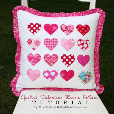 Quilted Valentine Hearts Pillow Sewing Tutorial