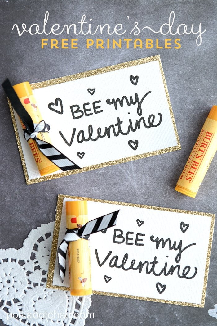 Bee My Valentine Free Printable Valentines – Bee My Valentine Card