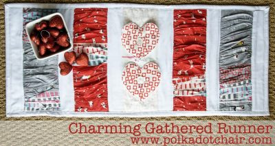 Valentines Day Quilted Table Runner Sewing pattern