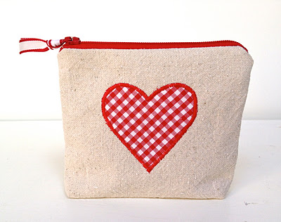 Heart Zippered Pouch
