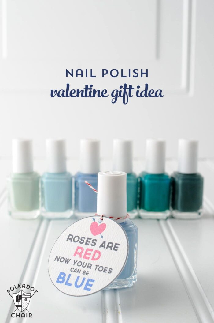 Nail Polish Valentine's Day Gift idea on polkadotchair.com