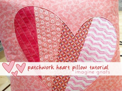 Patchwork Heart Pillow Tutorial