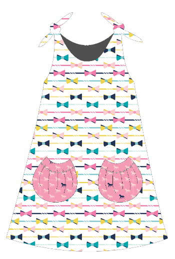 Eva Dress in Derby Style Fabric from Pattern Jam