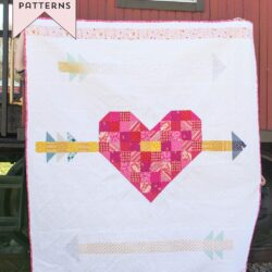 Cupid's Arrow Quilt Pattern, a fun twist on a patchwork heart quilt