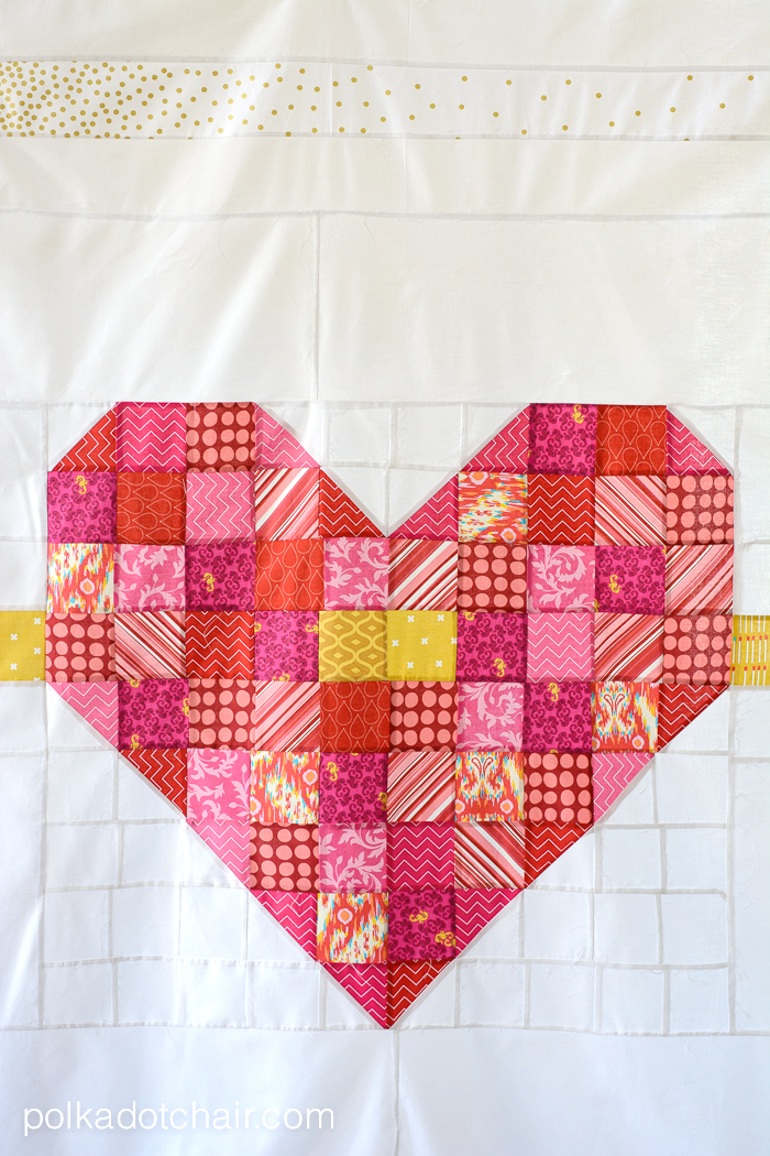 Cupid's Arrow: A Patchwork Heart Quilt Pattern Realize