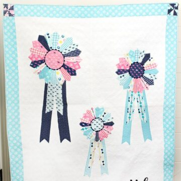 Derby Style Prize Ribbons Quilt Pattern