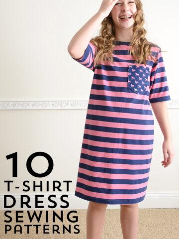 10 T-Shirt Dress Sewing Patterns